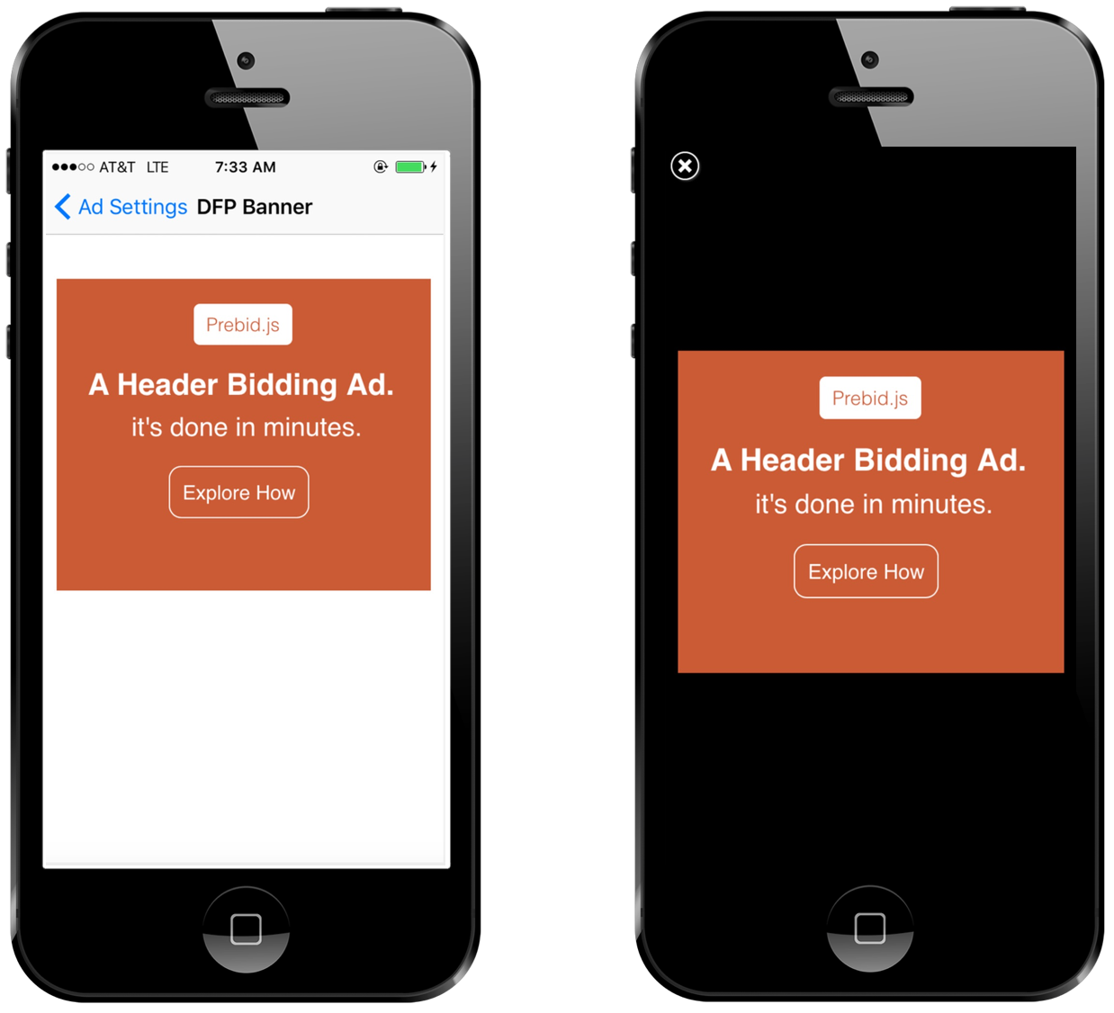 Prebid Mobile - Banner and Interstitial Ads running on iOS